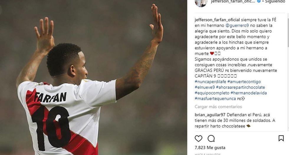 Paolo Guerrero: Jefferson Farfán destronó a Reinaldo Dos Santos con esta predicción y lo prueba con foto