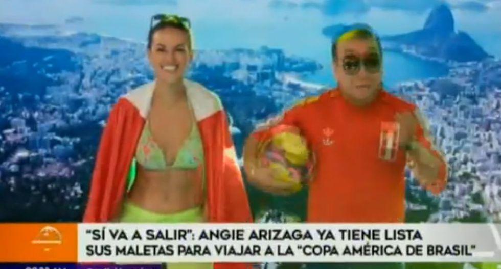 Angie Arizaga alista maletas para viajar a Brasil para cubrir la Copa América 2019