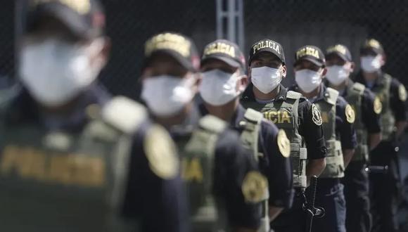 Los policías son parte de la primera línea de lucha contra la pandemia de COVID-19. (Foto: GEC)