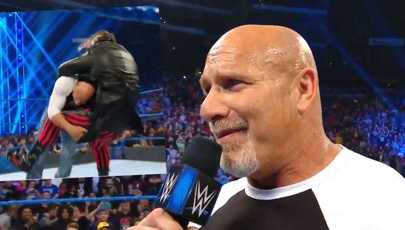 Goldberg mandó a la lona a Bray Wyatt. (Redes sociales)