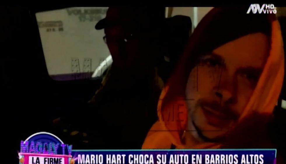 Mario Hart sufrió accidente automovilístico en el Cercado de Lima. (Capturas: Magaly Tv. La firme)