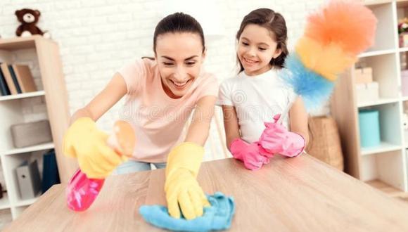 Consejos para limpiar la zona de juegos de los niños.