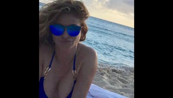 Paulina Rubio se atrevió a mostrar su figura en bikini en Instagram