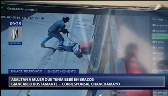 El esposo de Janet Cartolín resultó herido de bala y fue trasladado al hospital Julio César Demarini Caro.(Canal N)
