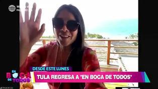 """Tula Rodríguez retorna este lunes a """"En boca de todos"""": """"El dolor no se va, pero es un nuevo inicio"""""""