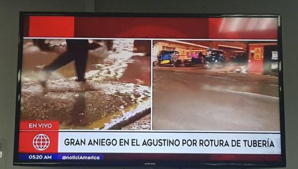 El aniego empezó alrededor de las 3:30 a.m. (Foto: Imágenes de América Televisión)