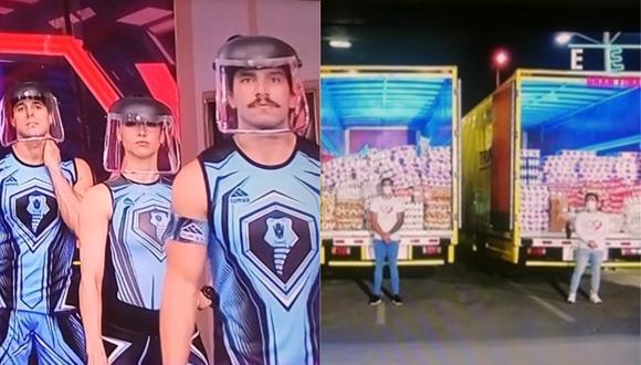 """Integrantes de """"Esto es guerra"""" compitieron por casos sociales. (Foto: Captura América TV)"""