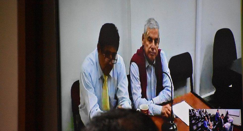 César Villanueva participó de la audiencia en la que se evaluó su pedido para variar la prisión preventiva por el arresto domiciliario a través de una videoconferencia. (Foto: Poder Judicial)