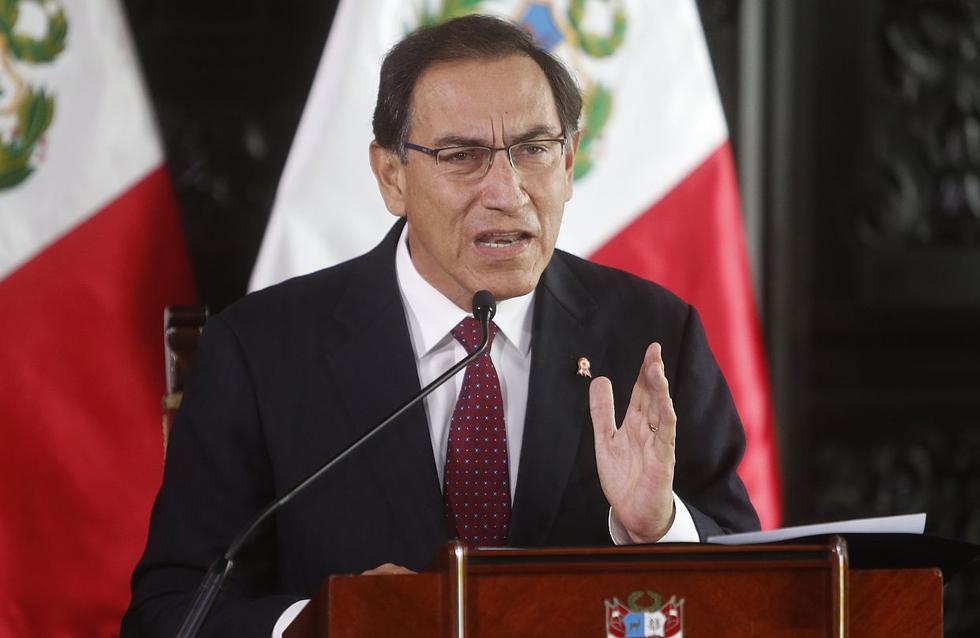 El presidente Martín Vizcarra se pronunció mientras realizaba una visita a Piura para entregar obras. (USI)