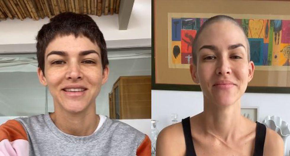 Anahí de Cárdenas se rapó el cabello. (Instagram)