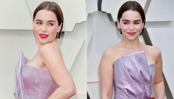 Emilia Clarke en la alfombra roja de los premios Oscar 2020. (Foto: AFP)