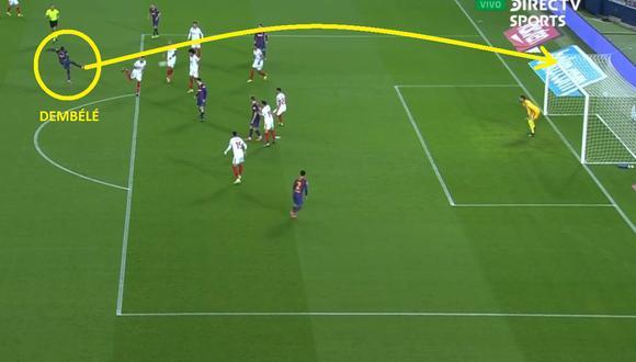 Dembélé se lució con este gol a Sevilla por Copa del Rey