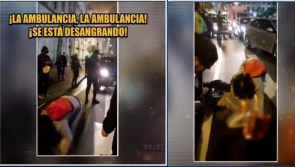 Richard Muro fue agredido por un grupo de personas en las inmediaciones de la Plaza San Martín, el último miércoles. (Foto: Captura de TV)