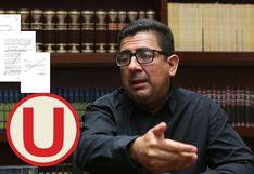 Universitario: Carlos Moreno incumpliría norma concursal y no podría ser administrador del club, según denuncia ante Indecopi
