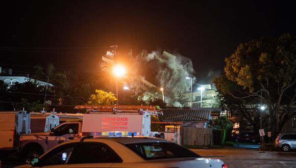 Una vez que sea demolido el edificio los rescatistas podrán acceder a zonas del garaje donde hasta ahora no se podía por miedo a otro derrumbe.. (Foto: CHANDAN KHANNA / AFP)