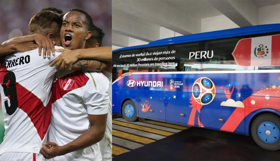 Bus de la selección peruana.