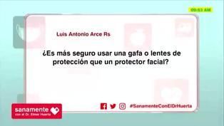 Protector facial o lentes: ¿Cuál es más seguro frente a la COVID-19?