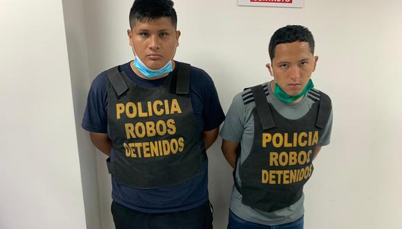 'Tapa' y 'Zancudo' buscaban víctimas en zonas desoladas. (PNP)