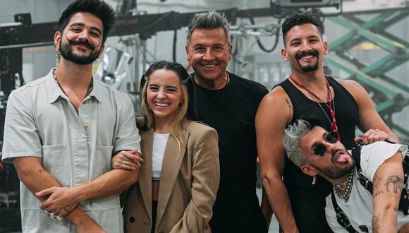 Ricardo Montaner, Camilo, Evaluna y el dúo Mau y Ricky en Premios Lo Nuestro 2021. (Foto: @camilo)