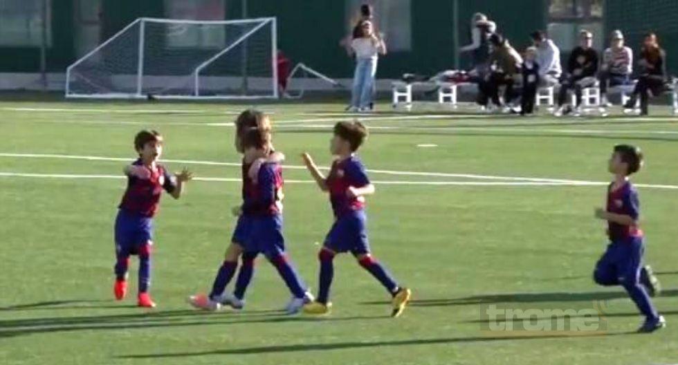 Thiago Messi anota doblete con la camiseta de Barcelona