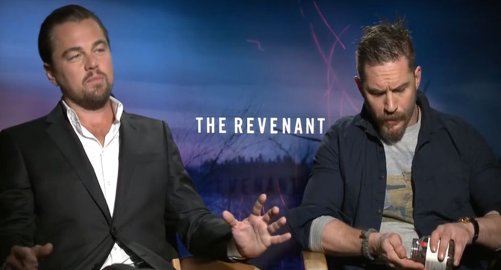 Leonardo DiCaprio le hizo un horrible tatuaje a Tom Hardy.