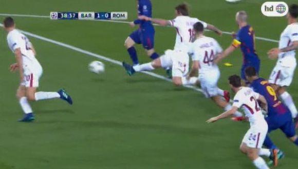 Gol de Barcelona a Roma