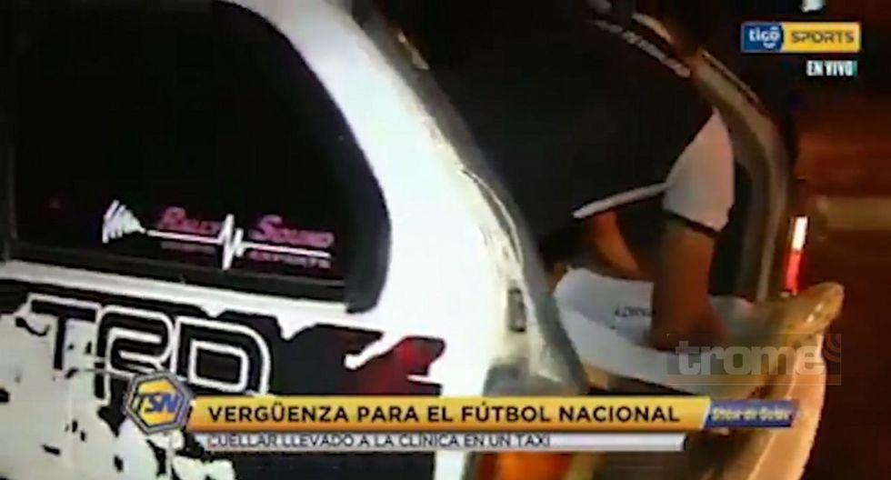 Jugador se fracturó y tuvo que ser evacuado en taxi en el fútbol boliviano