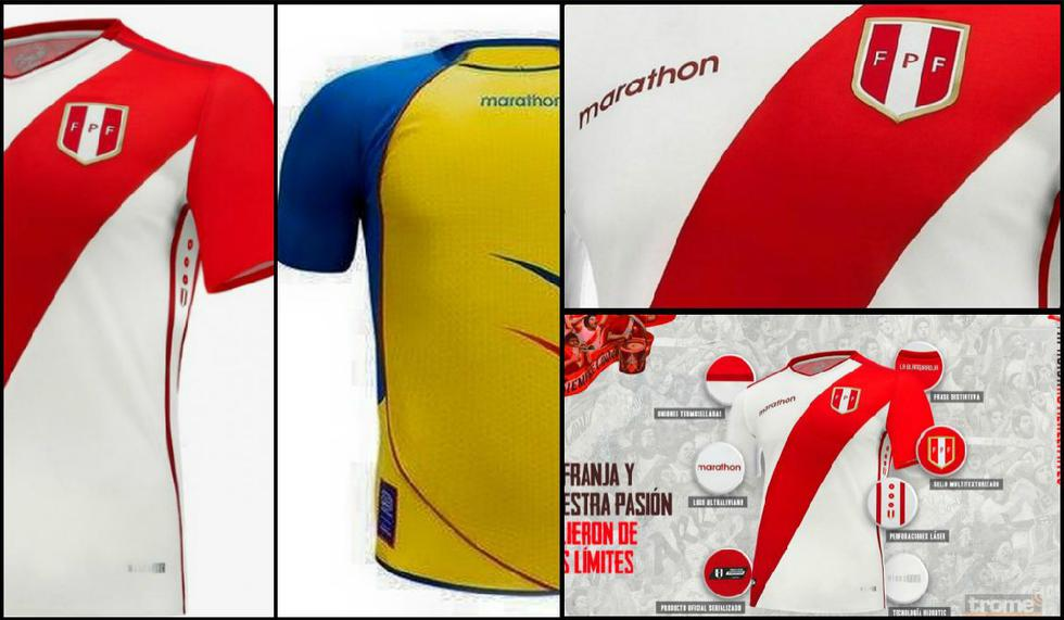 Selección peruana: ¿Nueva camiseta de Perú de Marathon es copia del diseño de Ecuador de hace 12 años? FOTOS   VIDEO