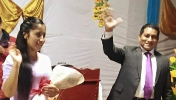 La novia Yaneth Sandoval junto a su prometido, el pastor Juan de Dios. (Foto: Facebook)