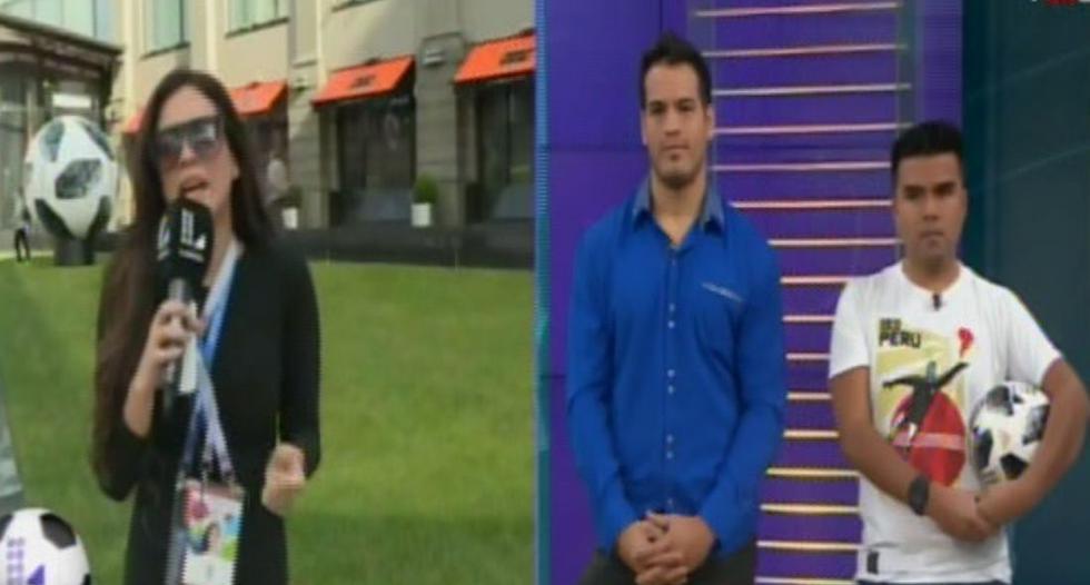 La reacción de Gerson Taype al ver a Jazmín Pinedo reportando desde Moscú