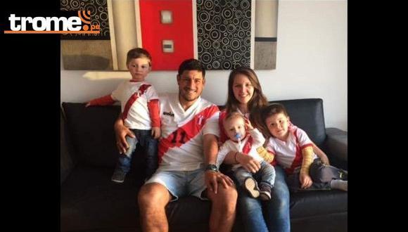 Luis Hernández y su linda familia.