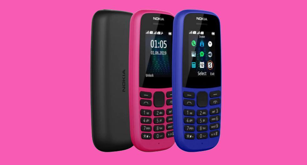 ¿Jugabas snake en estos dispositivos? Conoce las características de los renovados celulares Nokia 105 y 220 4G. (Foto: HDM Global)