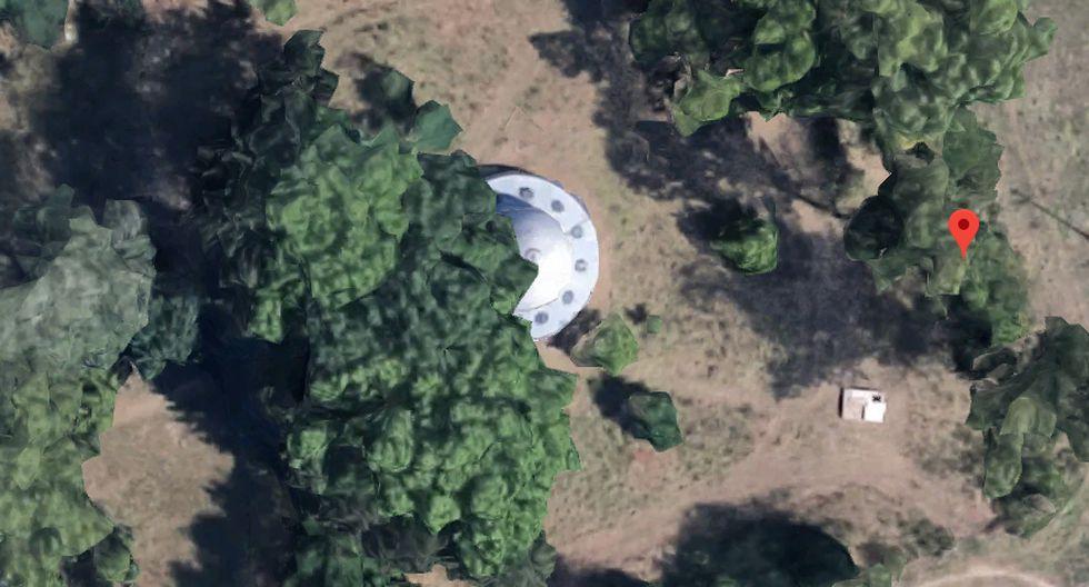 ¿Real o fake? Conoce qué es realmente este objeto que muchos han señalado como una nave espacial en Google Maps. (Foto: Google)