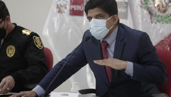 Ministro del Interior asegura que el tema de seguridad ciudadana está a cargo de la Policía Nacional, y no de las Fuerzas Armadas. (Foto: Jessica Vicente/@photo.gec)