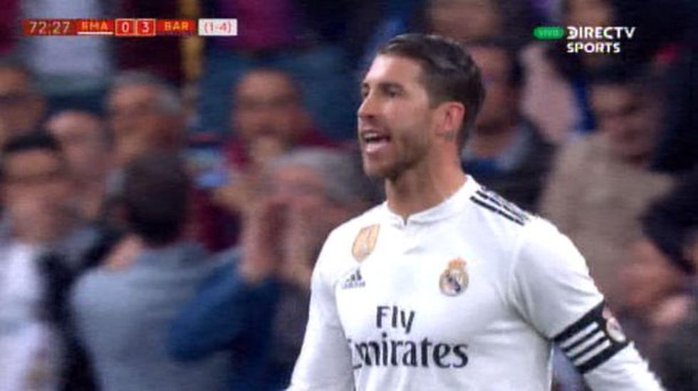 Sergio Ramos guapeó a sus compañeros por dejar libre a Luis Suárez en el tercer gol.