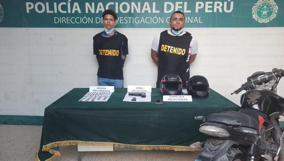'Tribilín' y 'Malulo' fueron capturados por agentes del Depincri Cercado de Lima. | Foto: Difusión