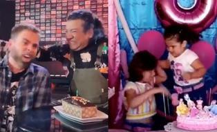 Carlos Vílchez y sus compañeros de 'Noche de patas' realizan divertida parodia del video viral  'la niña del pastel'