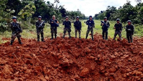 Fuerzas Armadas y Policía Nacional destruyen cuatro pistas de aterrizaje clandestinas que empleadas para el tráfico de drogas en las regiones de Huánuco y Pasco. (Foto FF.AA)