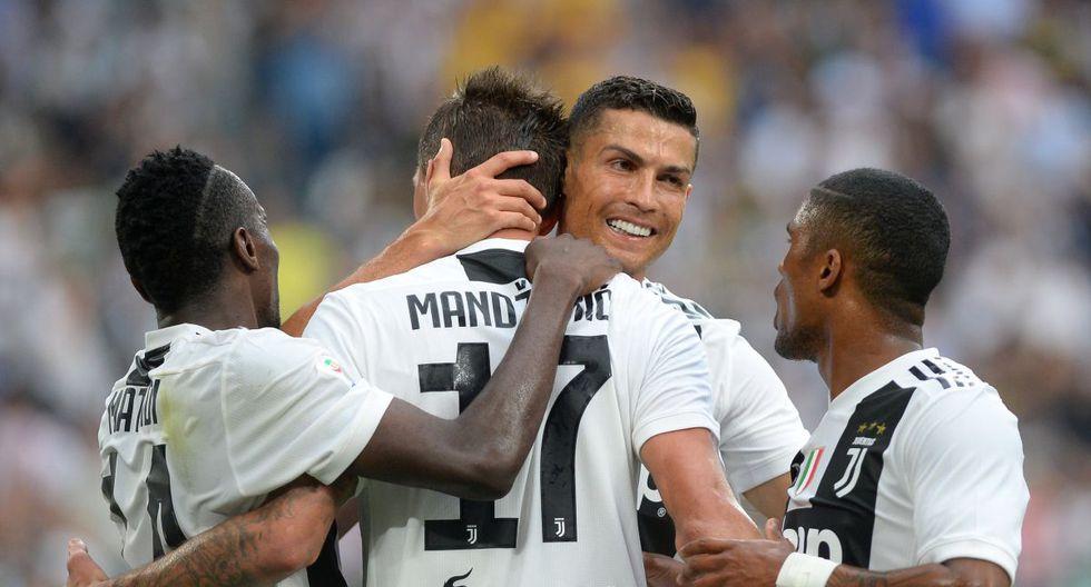 Con Cristiano Ronaldo, Juventus venció 2-0 a Lazio en su debut en la Serie A de Italia