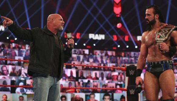 Bill Goldberg quiere el título de Drew McIntyre. (Twitter McIntyre/ WWE)