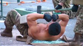 Soldados norcoreanos participaron en varias pruebas de resistencia de dolor frente a Kim Jong-Un