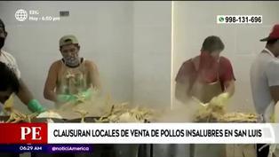 Clausuran locales de venta de pollos en condiciones insalubres en San Luis