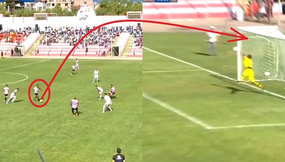Cachito Ramírez casi marca golazo, de 40 metros y colgando al arquero en el Boys vs Ayacucho FC por la Liga 1