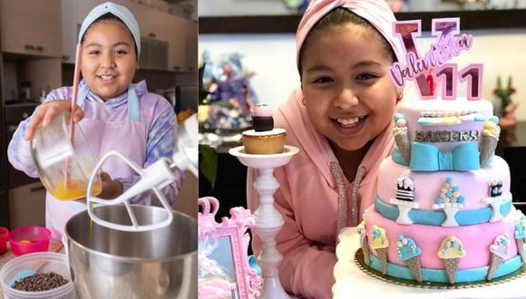 Niña emprendedora de 11 años prepara hermosas y elaboradas tortas en su casa de Surco. (Fotos: José Rojas / GEC)