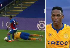 Yerry Mina, a pura garra: Se tiró de cabeza 2 veces para quitar pelota en Everton vs Crystal Palace por Premier League [VIDEO]