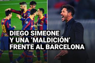 La 'maldición' de Diego Simeone que no ha podido romper frente al Barcelona