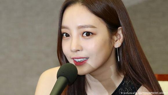 La artista, quien tenía 28 años, fue parte de la banda femenina Kara. Foto: All K-pop