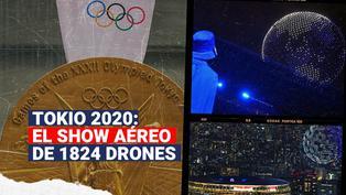 Tokio 2020: El increíble show de los 1824 drones en la inauguración de los Juegos Olímpicos
