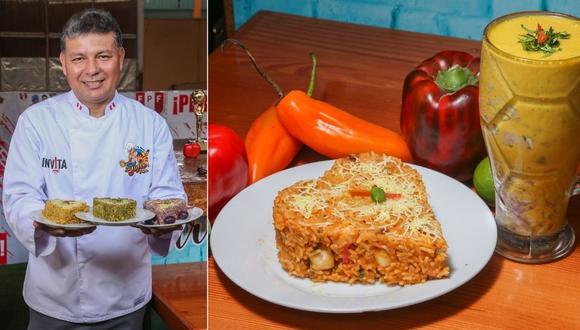 Una de las 17 variedades de su arroz con mariscos se llama 'Infernal', preparado con mixtura de mariscos frescos, pimiento rojo y rocoto. | Foto: Trome.