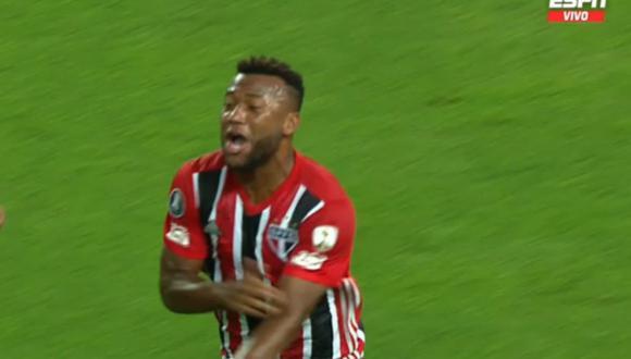 Luan abrió el marcador para Sao Paulo ante Sporting Cristal por Copa Libertadores.